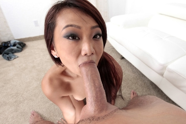 Hot Little Asian Sucking Cock